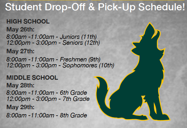 Important Drop off Information